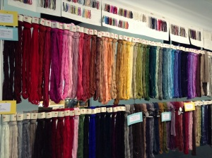 Wall of pure cashmere