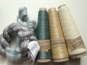 Yarn samples from h+h Cologne