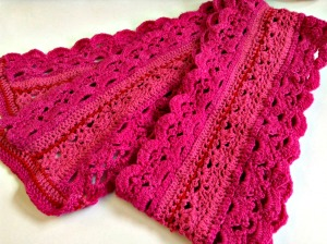 "My first crochet project - ""Emma Lace Scarf"" by Simona Merchant-Dest"